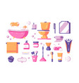 bath accessories set vector image