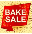 Big winter sale poster with BAKE SALE text vector image vector image