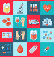 blood transfusion set vector image