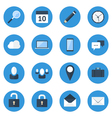 Blue Web Icon Set vector image vector image