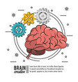 brain creative poster icon ilustration vector image