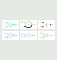 business infographics organization charts with 3 vector image vector image