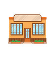 cafe shop or restaurant facade front view of vector image vector image