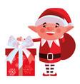 christmas elf design vector image