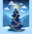 christmas tree theme 5 vector image