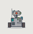 Classic square robot vector image