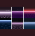 collection abstract futuristic backgrounds vector image vector image