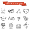 Collection of Chinese icon hand draw vector image vector image