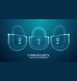 copter internet cyber security background cyber vector image