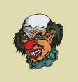 crazy clown vector image vector image