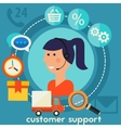 Customer Support Concept vector image