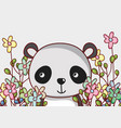 cute panda bear doodle cartoon vector image vector image