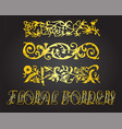 decorative floral elements and ornaments vector image vector image