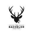 deer antler head logo vector image vector image
