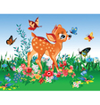 Deer in summer garden vector image vector image