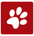 Dog footprint vector image