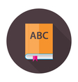 English Lesson Book Flat Circle Icon vector image vector image