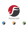 f letter logo template design vector image vector image