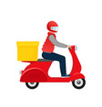 fast delivery in flat style food delivery service