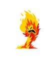 fire monster cartoon character fantasy mystic vector image vector image