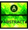 flyers templates with green abstract geometry vector image vector image