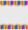 frame made of colored wooden pencils isolated on vector image vector image