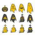 fun halloween avatars set vector image vector image