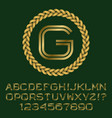 gold letters and numbers with initial monogram vector image vector image