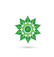 green color flower icon vector image vector image