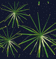 green plants seamless night stars background vector image