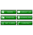 Green web icon set vector image