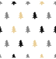 hand drawn christmas tree fir seamless pattern vector image