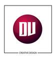 initial letter dv logo template design vector image