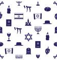 judaism religion symbols seamless blue pattern vector image