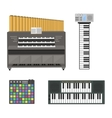 Keyboard musical instruments vector image vector image