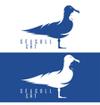 negative space concept with cat and seagull vector image vector image
