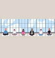 office workers dressed in smart clothes sit with vector image vector image