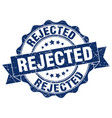 rejected stamp sign seal vector image vector image