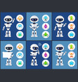 robots of modern type set vector image vector image