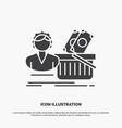 salary shopping basket shopping female icon glyph vector image vector image