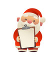 santa claus holds in his hands blank isolated vector image vector image