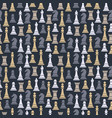 seamless pattern with chess pieces vector image vector image