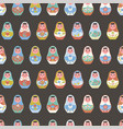 seamless pattern with nesting dolls vector image vector image