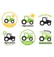 set agriculture and farming icons design vector image