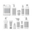 set bottles with antiseptic and hand sanitizer