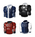 set of animated mens shirts and sweaters isolated vector image