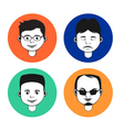 Set of male avatar icons vector image vector image