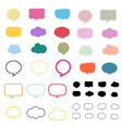 set of speech labels on white background vector image