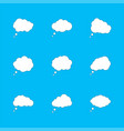 set white clouds with shadow speech bubbles vector image vector image