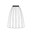 Skirt vector image vector image